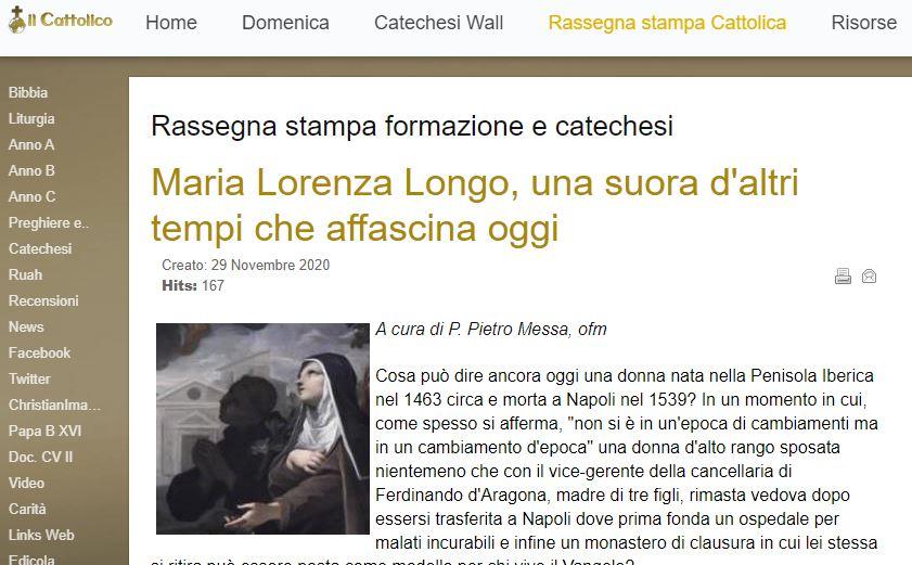 Maria Lorenza Longo, una suora d'altri tempi che affascina oggi